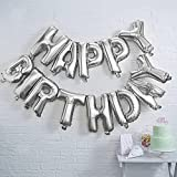 Monkey Home Buchstaben-Luftballons 'Happy Birthday', Folienballons, 40,6cm, Party-Dekoration
