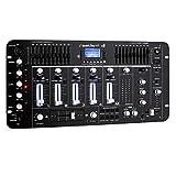 resident dj Kemistry 3BK • DJ-Mixer • 4-Kanal Mischpult • DJ-Mischpult • Bluetooth • USB-Port • SD-Slot • MP3-fähig • 2 x Cinch-Phono/Line-Eingang • XLR-/Klinken-Eingänge • Rackmontage • schwarz