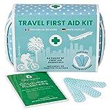 Yellodoor 84 Stück Mini Reise Erste Hilfe Kit. Enthält Schere, Verbrennungsgel, wasserdichte Putze, Medizinische Handschuhe, Antiseptische Tücher und chirurgisches Band. Für Zuhaus 100% Vegan