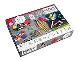 Rayher 69082000 Basic Bastelset, 1200 Teile inkl. Bastelkleber, für Kinder, Kreativset im Vorteilspack, zum kreativen Basteln mit Mädchen und Buben