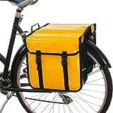 Beluko Classic Doppel-Fahrradtasche, wasserdicht, fürs Einkaufen mit dem Fahrrad , gelb