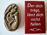 Handschmeichler Bronze Plakette 'Der dich trägt, lässt dich nicht fallen' Original Handarbeit Abtei Maria Laach 801045/7