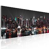 murando XXL Panoramabild –Vlies Leinwand - Kunstdrucke – Skyline New York NY Stadt City 135x45 cm