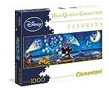 Clementoni 39287.2-1000 Disney Panorama Collection Mickey und Minnie, Klassische Puzzle