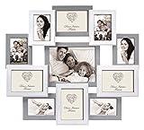 Rouen Bilderrahmen aus Holz Grau Weiß für 11 Fotos Foto Collage Rahmen Galerie