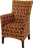 Esszimmer-Sessel aus hochwertigem Natur Rattan, Vintage Braun - Versandkostenfrei in DE