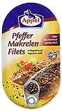 Appel Pfeffer-Makrelenfilets, zarte Fisch-Filets in wertvollem Rapsöl und eigenem Saft, MSC zertifiziert, 13er Pack (13 x 190 g)