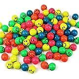 S/O 100er Pack Flummi Smiley 27mm Flummis Springball Hüpfball Mitgebsel Tombola Kindergeburtstag