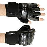 MMA Handschuhe Profi von MARTIAL - professionelle Qualität - hochwertige Konstruktion - Boxen, Training, Sandsack, Boxsack, Freefight, Grapling, Kampfsport - Schwarz - Boxhandschuhe