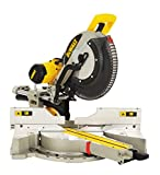 DeWalt Paneelsäge 1650W DWS780 inkl. Zubehör / Mit 305x30 mm HM-Sägeblatt ideal für den Innenausbau / Hohe Schnittkapazität & LED Schnittlinien Anzeige