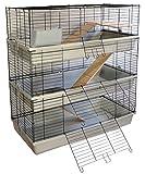 Kaninchen- und Meerschweinchenkäfig GRENADA 120 SKY mit 3 Etagen