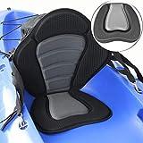 GOFORJUMP Deluxe Gepolsterter Kajakbootsitz Tragbares Ruderboot Weicher, Rutschfester, gepolsterter Sitz Verstellbares Kajakkissen mit Rückenlehne