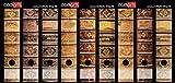 Set 9 Stück breite Ordner-Etiketten - Alte Bücher Lederbände Vintage - selbstklebend (Ordnerrücken Aufkleber Sticker)