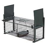 Moorland Safe 5006 Lebend-Falle 50x18x18cm als stabile Marder-Falle, Kaninchen-Falle, Katzen-Falle mit 2 Eingängen