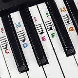 Klavier Und Keyboard Musiknoten Aufkleber Für Weiße Tasten Mit LIeder E-Book