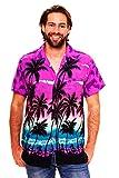Funky Hawaiihemd, Kurzarm, Beach, violett, M