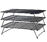 Tebery 3-stöckiges Auskühlgitter, faltbar, 40*25*22 cm, Leichtes Lösen, extra große Auskühlfläche