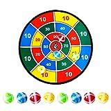AimdonR Velcro Dart Brettspiel mit 8 Klettbällen, 14,5 Zoll (37 cm) Durchmesser, Safe für Kinder, Weihnachten Spiel,Stoff und Klett Dartscheibe Spiel