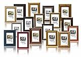 Geschenkbox - Set 10 Stk. Bilderrahmen Holzrahmen - 13x18 cm. Verschiedene Farben und Stile, mit Plexi. Großhandelspreis für Restposten!