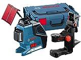 Bosch Professional Linienlaser GLL 3-80 P (3 Linien 360° Projektion, 4x 1,5 V Batterien, Universalhalterung BM 1, Zieltafel, Schutztasche, L-BOXX, Arbeitsbereich mit Empfänger: 80 m)