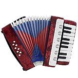 ammoon Mini kleine 17 Key 8 Bass Akkordeon pädagogische Musikinstrument Spielzeug für Kinder Kinder Amateur Anfänger  Weihnachtsgeschenk