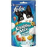 Felix KnabberMix Strandspaß mit Lachs-, Seelachs- und Forellengeschmack, Katzenleckerlies, 8er Pack (8 x 60 g Beutel)