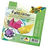 folia 8965 - Faltblätter 15 x 15 cm, 70 g/qm, 500 Blatt sortiert in 10 Farben