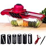 6 in 1 Gemüseschneider Kartoffelschneider / Pflanzliche Slicer / Multi Gemüsehobel, Profi-Mandoline Reibe für schneide, hacke, würfle, reiben, julienne und Aufbewahren