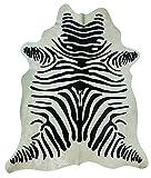 Kuhfell Zebra, ca. 3 qm, Schwarz Weiß, Echtfell Leder - robust und haltbar - für die Wand als Teppich oder Dekor - unter Stühle, Tische oder als Bettvorleger