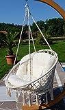 DESIGN Hängesessel Stoffsessel Schwebesessel Hängekorb CATALINA mit extrem gemütlichen Kissen (ohne Holzgestell) von AS-S
