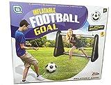 Gameshub Aufblasbares Tor für Fußball Wasserball inklusiv Netz, 107x75x50 cm