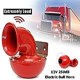 Neborn 8A 12V 250dB 175Hz Rot Metall Elektrische Bull Horn Super Laut Raging Sound Für Auto Motorrad LKW Boot