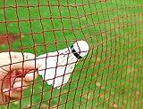 Angker: Badminton-Netz (geflochtenes Nylon-Mesh in rot), für Indoor- oder Outdoor-Sportaktivitäten, für den Garten, Schulhof oder Hinterhof