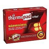 Thermopad vital Wärme-Gürtel | mit 4 großen Wärme-Zellen| wohltuende Tiefenwärme | sofort einsatzbereit | 12 Stunden lang 42°C | einfache Anwendung | Größe S-XL | 3er Pack