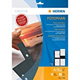 Herma 7783 Fotosichthüllen (90 x 130 mm) 10 Hüllen schwarz
