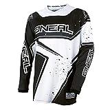O'Neal Element Racewear Jersey Schwarz Weiß MX MTB DH Trikot Motocross Offroad, 0028-10, Größe S