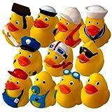 Preis am Stiel 11er Set Badeenten | Badaccessoires | Geschenk für Kinder | Spielzeug | Badespielzeug | Pool | Badewanne | Gummiente | Schwimmbad | Duck | Berufe