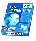 Avery Zweckform 2566 Inkjet Druckerpapier (A4, 100 g/m², blickdicht, seidenmatt) 500 Blatt hochweiß