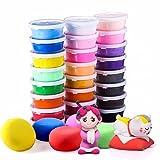 Polymer Knete Set,Adkwse 24 Farben Clay, Modellierung Lehm,Kinder DIY Kreatives Magische Bunte Plastilin Clay Modellierwerkzeug ,Mitgebsel für Kinder ab 3 Jahren