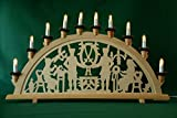 XL Schwibbogen Lichterbogen Erzgebirge 'Bergleute' traditionelles Motiv 70 cm lang 10flammig Weihnachten Advent Geschenk Dekoration (10742)