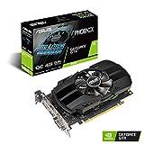 ASUS NVIDIA GeForce GTX 1650 Phoenix OC 4G Gaming Grafikkarte (PCIe 3.0, 4GB DDR5 Speicher, HDMI, DVI, Displayport)