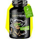 *NEU* Original GAINMONKEY Omega 3 Kapseln | 100 hochdosierte Fischöl Caps 1000mg | 180mg EPA & 120mg DHA