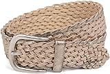 styleBREAKER Gürtel in moderner Flecht Optik im Vintage Style, Flechtgürtel, Onesize, Unisex 03010063, Farbe:Antik-Beige;Größe:110cm