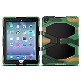 WiTa-Store 3in1 Outdoor Hülle für Apple iPad 2017/2018 9.7 Zoll stoßfestes Hardcase und Silikonrahmen Tablet Hybrid