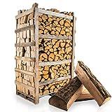 PALIGO Brennholz Kaminholz Feuerholz Grillholz Ofenholz Smokerholz Scheitholz Eichen Holz Trocken Ofenfertig Eiche 33cm 1,8RM = 2,5SRM / 1 Palette HEIZFUXX