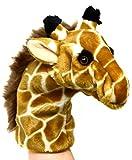 Lashuma Plüsch - Handpuppe Giraffe | Plüschtier Handspielpuppe | Wildtier Tierpuppe ca. 25 cm