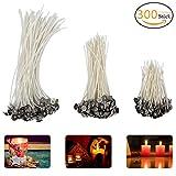 ANPHSIN 300 Stück Kerzendochte, Candle Wick in 3 Verschiedenen Größen (90 mm,150 mm and 200 mm) für die Kerzenherstellung, Kerze DIY