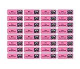 Sunnywall Namensaufkleber Namen Sticker Aufkleber Sticker 4,8x1,6cm | 60 Stück für Kinder Schule und Kindergarten 38 Hintergründe zur Auswahl (20 Schmetterling)