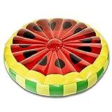Goods & Gadgets Melone Luftmatratze Aufblasbare Wassermelonen Matratze Badeinsel Schwimmreifen Schwimminsel Ø 143 cm