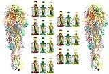 Home-Flair Partyknaller, Partykracher, Partypopper mit Luftschlangen Tischfeuerwerk als Party und Silvester Deko - Zubehör (21 Stück)